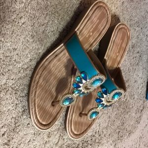 Teal and green Montego Bay Club Sandals